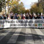 Productores y cooperativas de Jaén se manifiestan en defensa del uso de quads en el campo