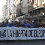 10.000 participantes en la manifestación para reclamar soluciones hídricas para el Levante