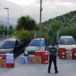 La Guardia Civil de Cádiz detiene a cuatro personas por trasportar 10.000 cajetillas de tabaco de contrabando