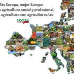 """COAG inicia en Bruselas la campaña reivindicativa """"Más Europa, mejor Europa: por una agricultura social y profesional, por un agricultura con agricultores/as"""""""