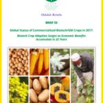 Los cultivos biotecnológicos alcanzan el récord de 189,8 Mha en 2017