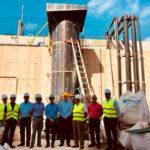 Los regantes de la zona sur del Mar Menor trabajan en una desnitrificadora sostenible con arena volcánica