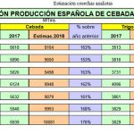 Más de 17 Mt de cosecha de trigo blando y cebada en España