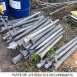 La Guardia Civil esclarece varios robos de tubos de riego en Barbastro