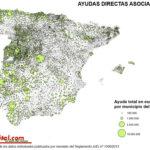 Mapa de las ayudas directas asociadas en España