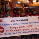 Huelga de trabajadores en Vall Companys